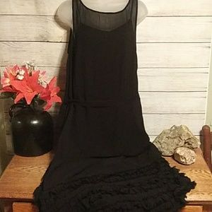 AllSaints Emrys Black Dress
